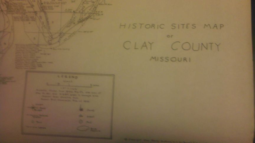 Historic Sites Map Of Clay County Missouri
